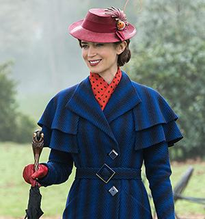 Emily Blunt nel ruolo di Mary Poppins